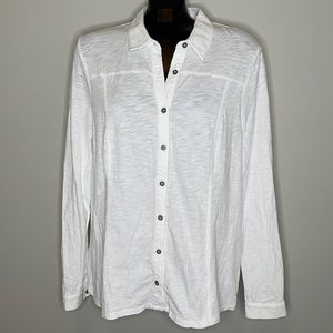 BODEN White long sleeve collared buttoned shirt 16